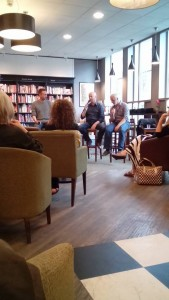 Ragnar Jonasson, Craig Robertson and Quentin Bates during a recent event in Waterstones Argyle Street for the release of 'Snoblind'. During the chat, talk of noir labelling came up.